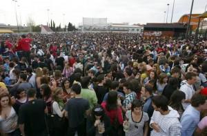 Botellódromo de Granada en la fiesta de la primavera