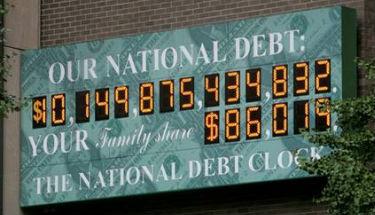 Reloj contabiliza la deuda estadounidense