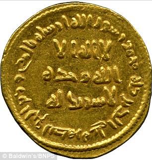 El histórico dinar de oro acuñado en el 77h.