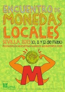 Cartel II Encuentro Monedas Locales en Sevilla