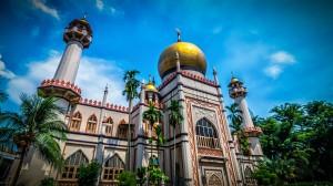 La mezquita del Sultán, Singapur.