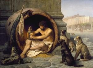 El cuadro de Diógenes, Jerome Gerôme (1860)