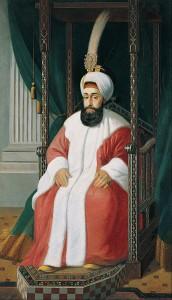 Pintura de Sultan Selim III por Joseph_Warnia-Zarzecki