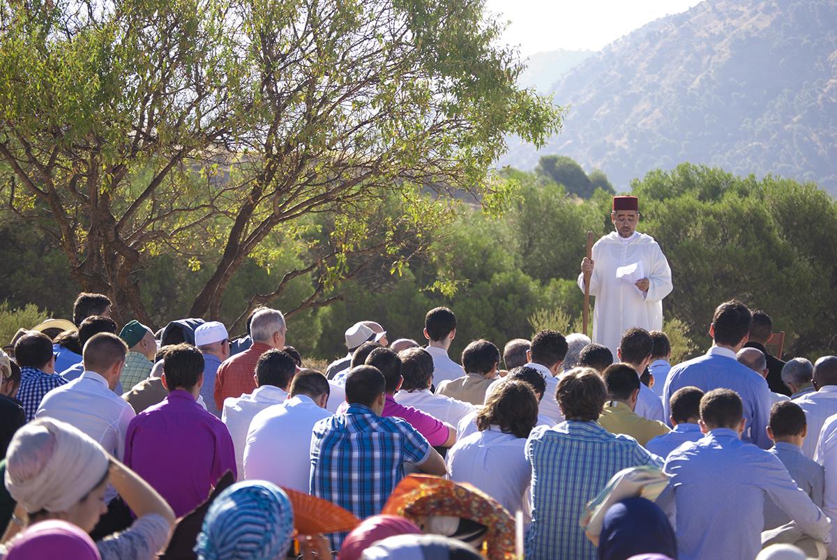 Sheij Muhammad Al Kassbi dando el jutba del Eid en Granada