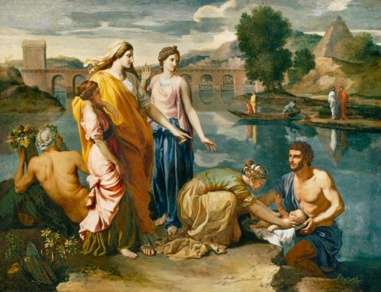 El hallazgo de Moisés, 1638, Nicolás Poussin