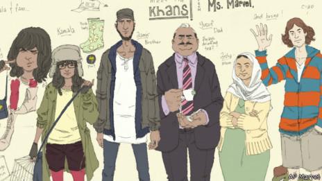 Kamala Khan, (2ª a la izq.)