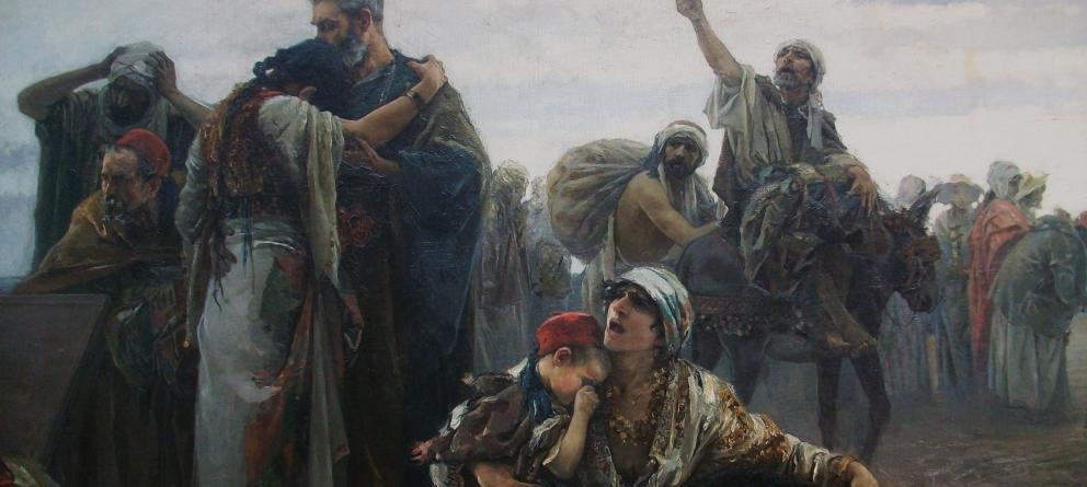 'La expulsión de los moriscos', de Gabriel Puig Roda (1894).