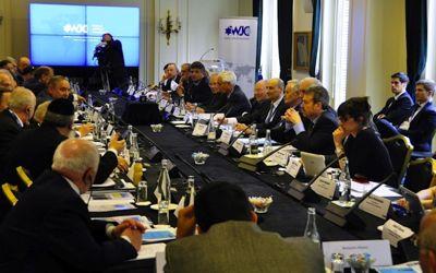 El Congreso Judío Mundial (CJM) realizó en París la reunión semestral de su Comité Ejecutivo, el 31 de marzo de 2014.