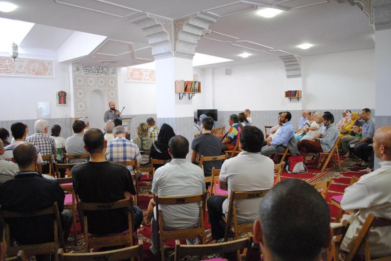 Sala de oración, una de las salas donde se dieron cita los asistentes
