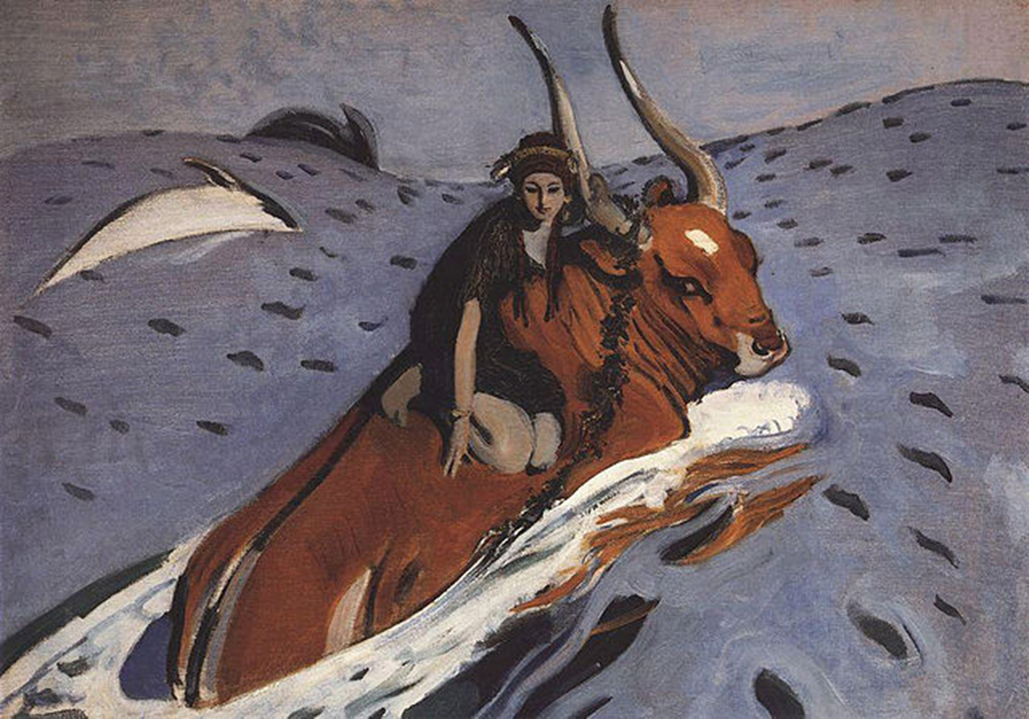 El rapto de Europa de Valentin Serov, 1910.