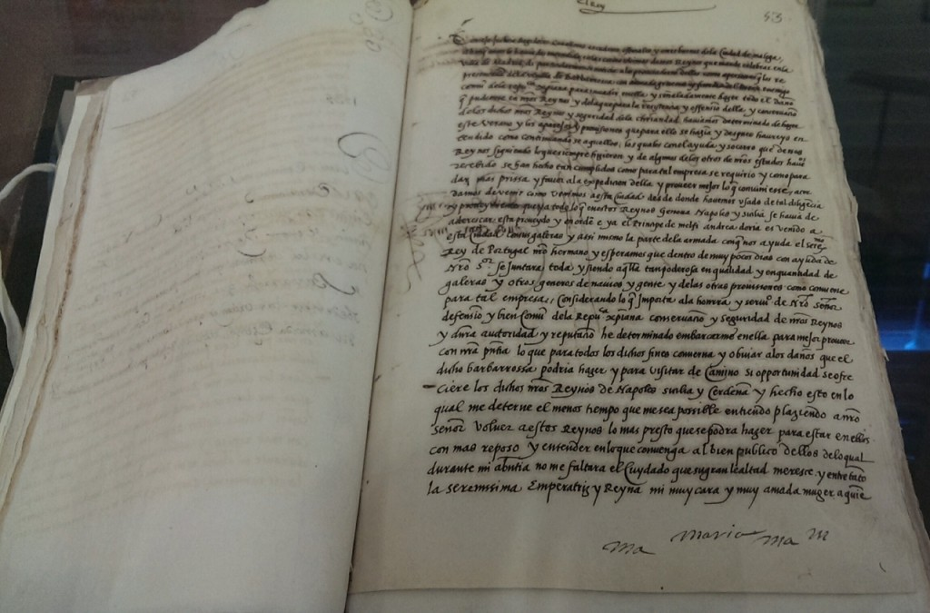 documento siglo xvi barbarroja