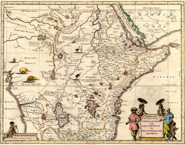 mapa antigua abisinia