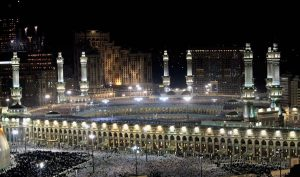 Masjid Al Haram in Makkah - Saudi Arabia (night)_jpg