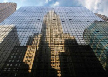 Chrysler Building (reflected), 1928-30. Wm. Van Allen, architect.